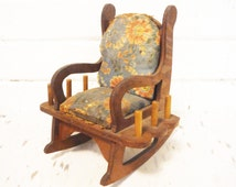 Pin cushion thread storage vintage 1930s rocking chair novelty rustic cottage
