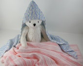 Crochet Pattern - Hooded Baby Afghan Crochet Pattern #201 - Instant Download PDF