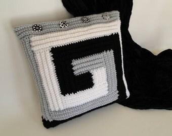 Crochet Pattern - Modern Pillow Crochet Pattern #601 - Instant Download PDF