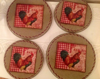 Rooster Stove Burner Covers..Country Home..Rooster Kitchen ..Country Kitchen..Rooster Lover..Rooster Decor..Home Decor