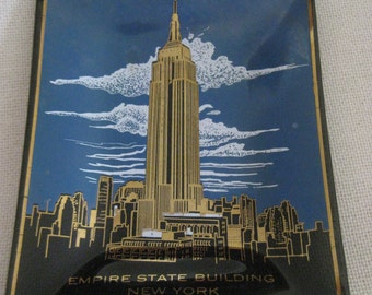 Vintage Empire State Building Glass Dish