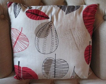 "Red Leaves Cushion Cover 16"" (no 3)"