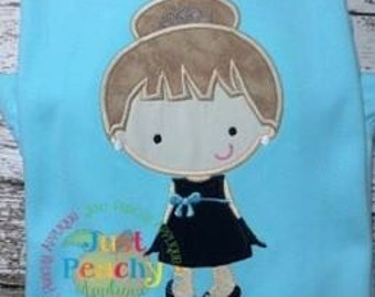 Tiffany Girl 2 Machine Embroidery Applique Design Buy 2 for 4! Use Coupon Code 50OFF