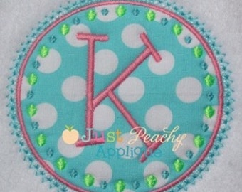 Dot Circle Frame Machine Embroidery Applique Design Buy 2 for 4! Use Coupon Code 50OFF
