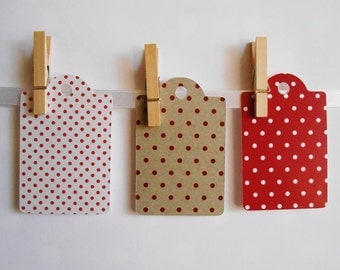Polka Dot Gift Tags (Pack of 6)