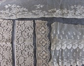 Vintage, antique lace pieces, lace trims and applique supply, something old DIY weddings, Wedding Pillow, journal supplies, gorgeous, 1P