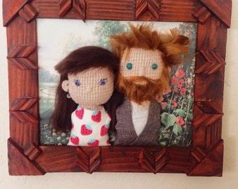 2 crochet person portrait
