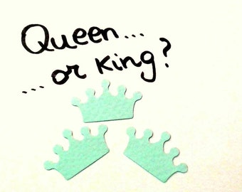 Confetti - 200 CARDBOARD crowns - Turquoise - Crown - Flavors - Spring - Summer - Wedding - Baby shower - Love
