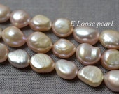 7.5-8.5mm Large hole Freshwater Pearl Baroque pearl,Wholesale Pearls,Pebble pearl,Potato pearl,Purple loose pearls 36pcs Full Strand PL3129