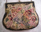 Vintage 1930s Made in Austria Petit Point Evening Bag