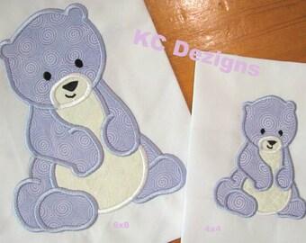 Polar Bear Machine Applique Embroidery Design - 4x4, 5x7 & 6x8