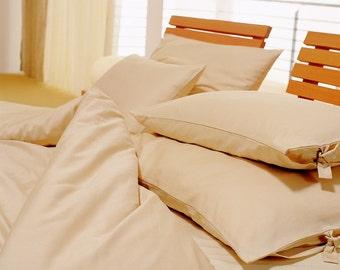COTTON: organic cotton BEDDING _ duvet cover + pillow case, single or double