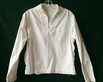 Vintage Sailor Distressed White Shirt
