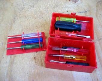 Vintage toolchest small screwdrivers vintage tools