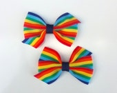 Rainbow hair bow, girls hair bow