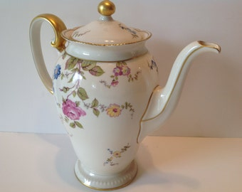 Rare Castleton Sunnyvale Coffee Pot with Lid in Excellent Condition REDUCED PRICE