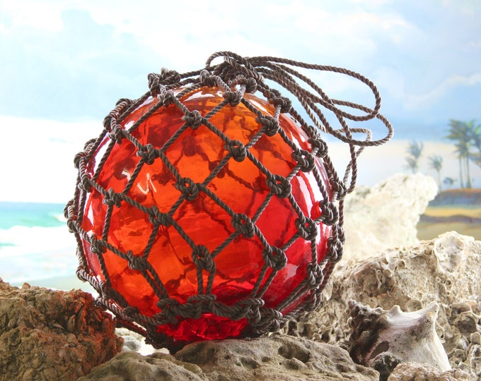 Beach Decor Red Super Big Onion Fishing Float by SEASTYLE