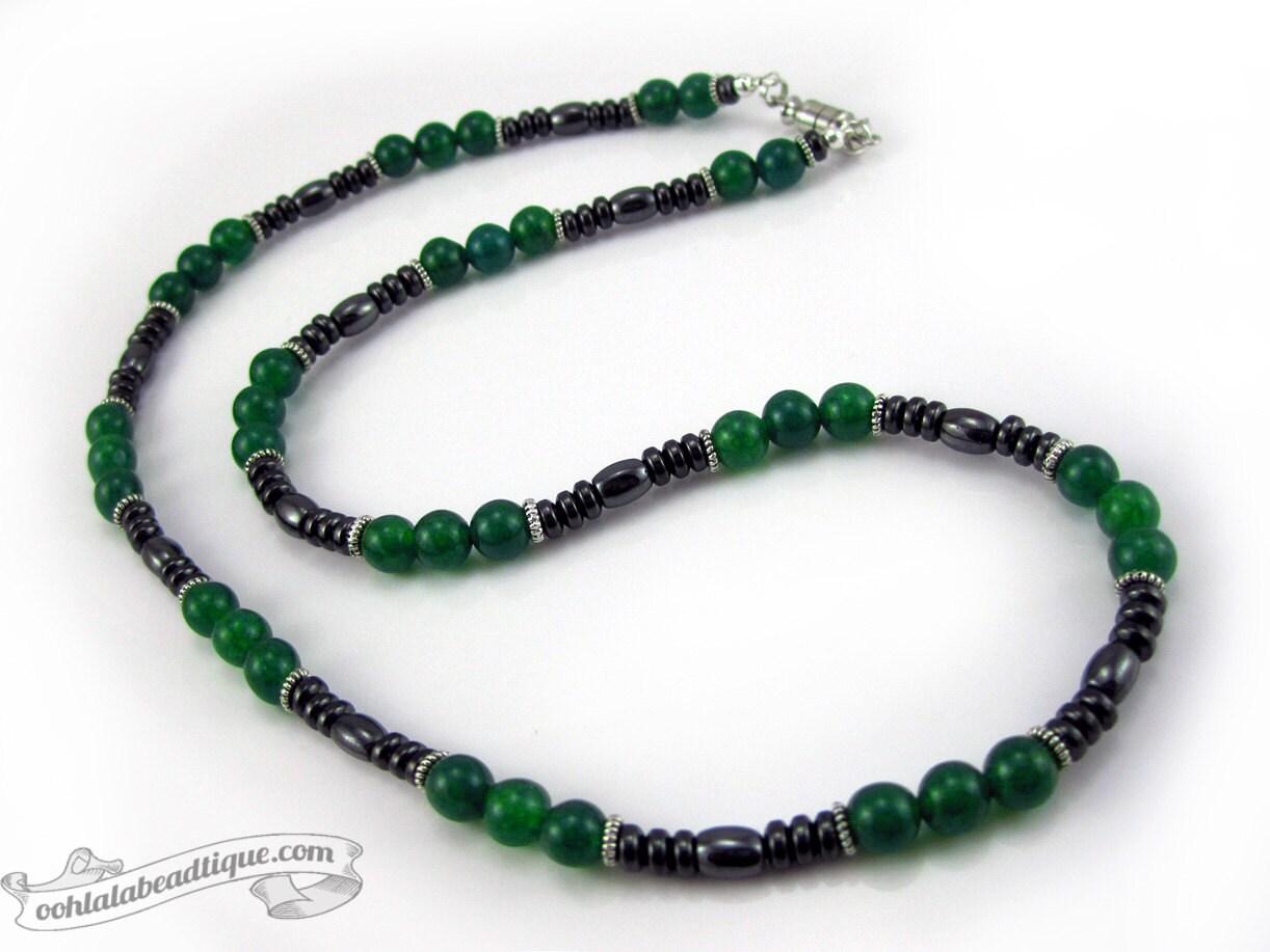 green jade mens necklace jade necklace necklace for