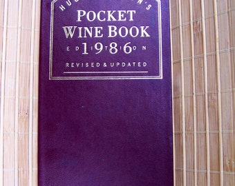 "Vintage 80's  Hugh Johnson's ""POCKET WINE BOOK"""