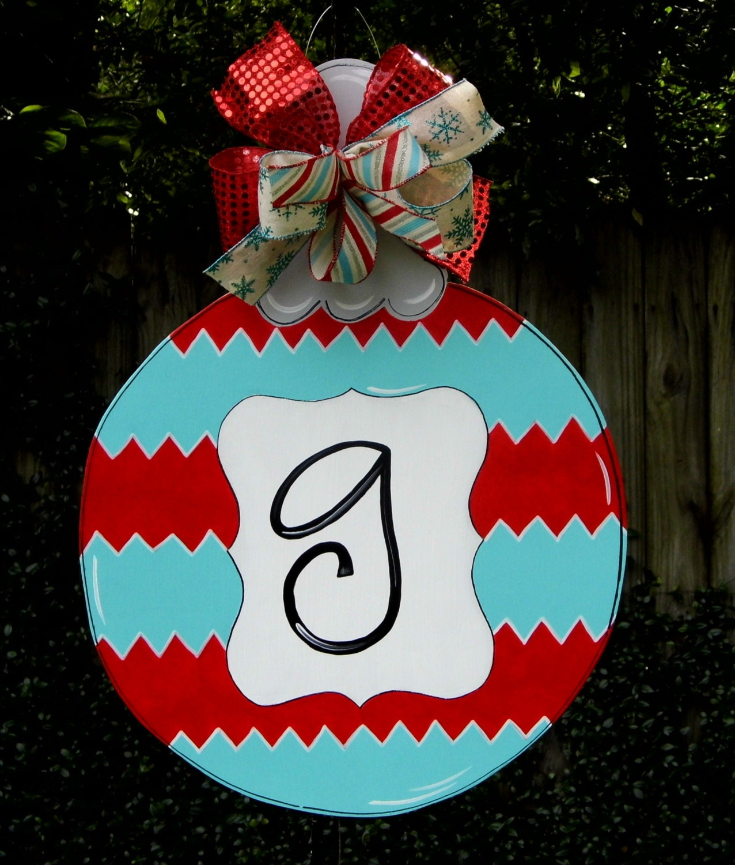 Christmas Ornament Door Hanger Red Ornament Door Hanger Red