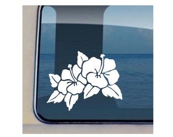 Hibiscus Decal Hawaiian Flower Vinyl Sticker 6