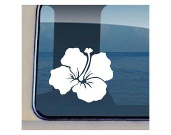Hibiscus Decal Hawaiian Flower Vinyl Sticker - 34