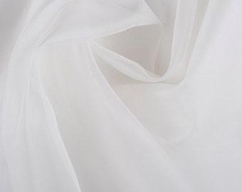 "45"" Wide 100% Silk Organza Ivory by the yard"