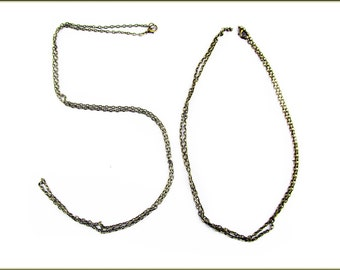 """50 x readymade Vintage Iron Cross Chain Necklace with Lobster Clasps, 31.5"""" aprox.80cm"""