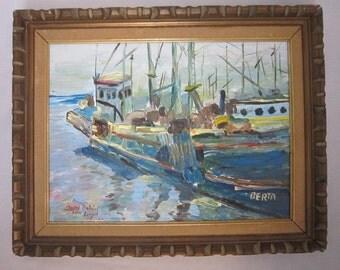 Nautical Landscape, Signed Josef DuBeil Von Larach