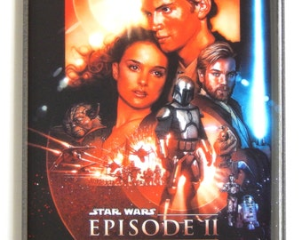 Star Wars: Attack of the Clones Movie Poster Fridge Magnet (2 x 3 inches)