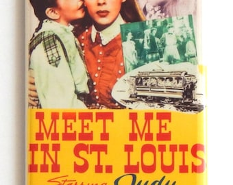 Meet Me in St. Louis Movie Poster Fridge Magnet (1.5 x 4.5 inches)