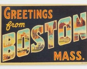 Greetings from Boston Fridge Magnet