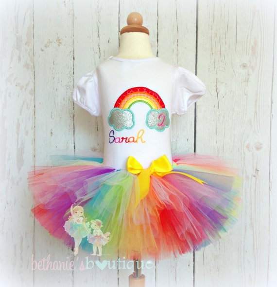 Rainbow Birthday Outfit 1st Birthday Rainbow Outfit First