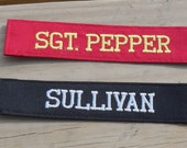 Embroidered Name Tape, Personalized Custom Name Tapes, Patch or Tags for Work Uniform or Hunting