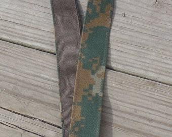 US Marines Fabric Military Lanyard, Marine Woodland Camouflage, Fabric Lanyard, Marine Corp