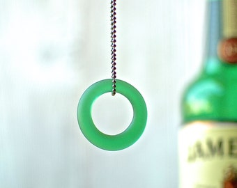 Jameson Single Shot Gunmetal Necklace | Matte Finish