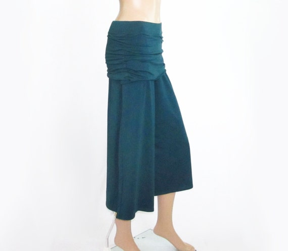 Gauchos Wide Leg Cropped Pants - Handmade Skirted Capris -Womens Made to Made to Order and Choice of Color in Natural Fiber - XXS thru Large