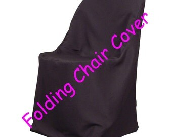 Black Folding Wedding Chair Covers Polyester