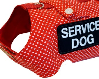 Dog Clothes Custom Service Dog Harness w/Pocket Choice of Patches Service Animal Therapy Dog dog clothing pet clothes dog clothes