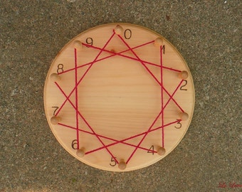Multiplication Circle Board - Back to School - Skip Counting Number Wheel - Math 2nd 3rd grade - Timetable - Waldorf Montessori