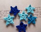 Set of 12 Mini Crochet Star Appliques