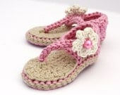 Baby Sandals, Crochet Baby Shoes, Baby Girl Sandals - Made to Order