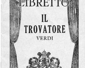 Grand Opera Libretto for Il Trovatore
