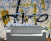 WallSkins Couture Removable Graffiti Wallpaper Mural- RATCHET- Peel & Stick Self Adhesive Fabric Temporary Wallpaper-Repositionable-Reusable