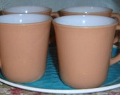 Vintage, Coffee Mugs, Corning Ware, Brown, Cups,