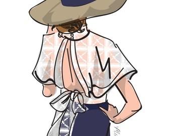 Fashion Illustration, Spring Fashion Elegance, Fashion Wall Art
