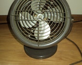 Vintage Industrial Style Metal Table Fan and Heater  in working condition  with wonderful well developed patina