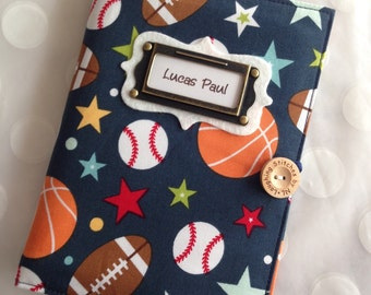 Photo Album Personalized Brag Book - Sports Balls Fabric-holds 48 Pictures