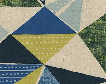 Cosmo - Japanese Cotton - Country House Canvas - Patchwork Angle - Blue