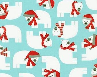 Kaufman - Jingle 3 by Ann Kelle - Polar Bear - Aqua